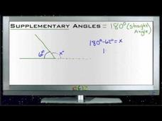 Supplementary Angles: Lesson Video