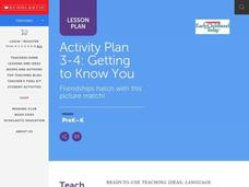 Getting to Know You Lesson Plan
