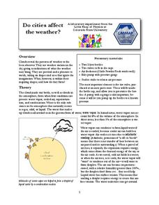 Do Cities Affect the Weather? (Making a Cloud in a Bottle) Lab Resource