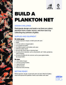 Build a Plankton Net Activities & Project