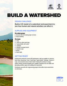 Build a Watershed Activities & Project