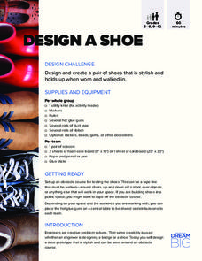 Design a Shoe Activities & Project
