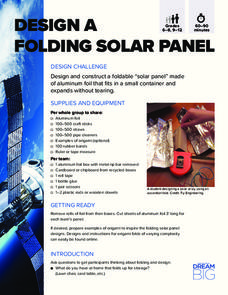 Design a Folding Solar Panel Activities & Project