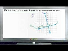 Perpendicular Lines in the Coordinate Planes: Lesson Video