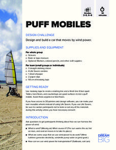 Puff Mobiles Activities & Project