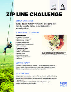Zip Line Challenge Activities & Project