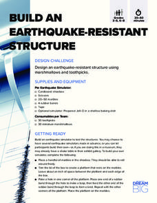 Build an Earthquake-Resistant Structure Activities & Project
