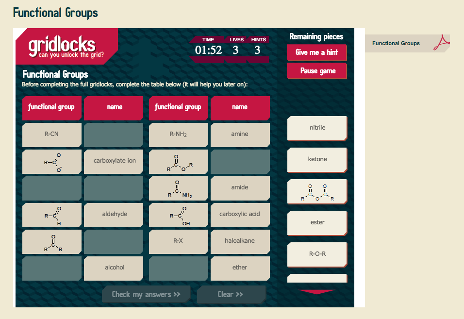 Functional Groups Interactive