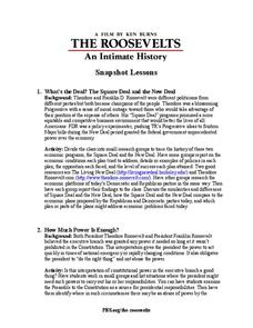The Roosevelts: An Intimate History—Snapshot Lessons Activities & Project