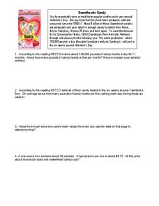 Sweethearts Candy Worksheet