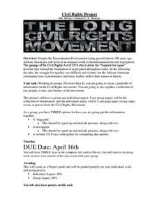 Civil Rights Project: The Long Civil Rights Movement Activities & Project