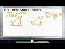 The Third Angle Theorem: Lesson Video