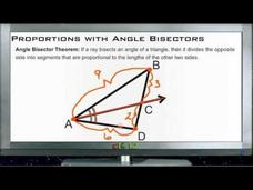 Proportions with Angle Bisectors: Lesson Video