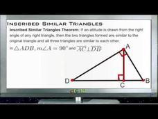 Inscribed Similar Triangles: Lesson Video