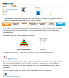 Mat Plans—Using Cubes and Isometric Drawings Lesson Plan