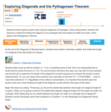 Exploring Diagonals and the Pythagorean Theorem—Corner to Corner Lesson Plan