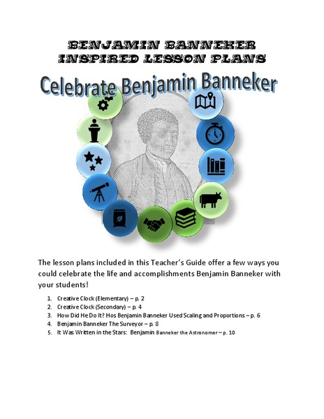 Celebrate Benjamin Banneker Lesson Plan