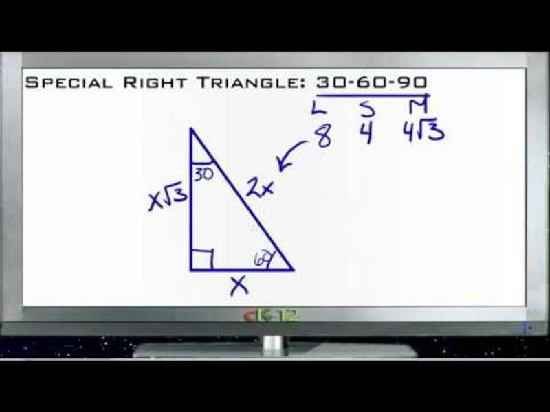 Special Right Triangle 30-60-90: Lesson Video