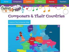 Composers and Their Countries Interactive