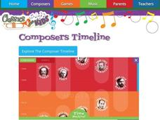 Composers Timeline Interactive