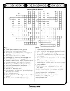 Tuesdays with Morrie Worksheet for 9th - 12th Grade | Lesson ...