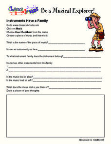 Instruments Have a Family Worksheet