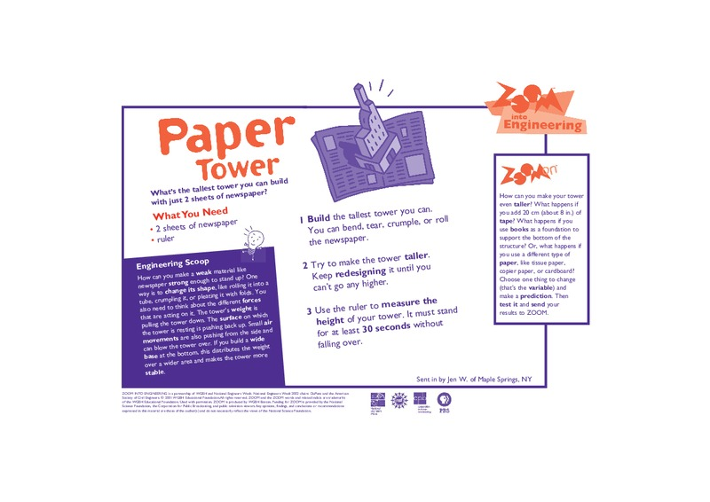 Paper Tower Activities & Project