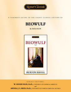 A Teacher's Guide to the Signet Classic Edition of Beowulf Lesson Plan
