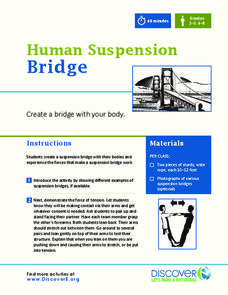 Human Suspension Bridge Activities & Project