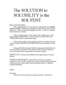 The Solution to Solubility Is the Solvent Lab Resource