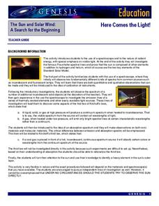 Here Comes the Light! Lesson Plan