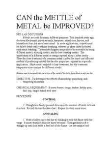 Can the Mettle of Metal Be Improved? Lab Resource