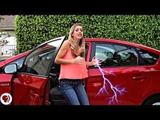 Avoid Electric Shock Getting Out of a Car! Video