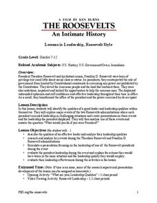 Lessons in Leadership, Roosevelt Style Lesson Plan