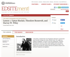 Upton Sinclair, Theodore Roosevelt, and Harvey W. Wiley Lesson Plan
