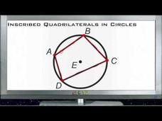 Inscribed Quadrilaterals in Circles: Lesson Video