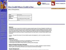 Give Credit Where Credit is Due Lesson Plan