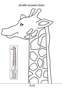 Giraffe Growth Chart Worksheet