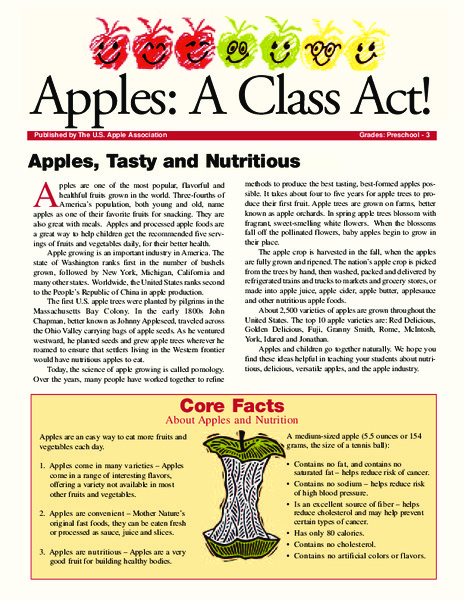 Apples: A Class Act! (Grades Pre-K–3) Activities & Project