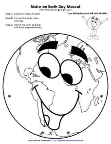Make an Earth Day Mascot Printables & Template for Pre-K