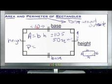 Area and Perimeter of Rectangles: Lesson Video
