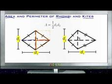 Area and Perimeter of Rhombuses and Kites: Lesson Video