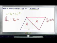 Area and Perimeter of Triangles: Lesson Video