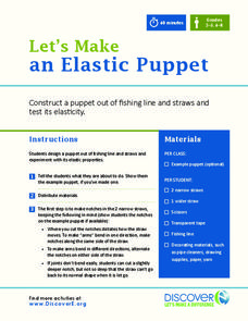 Let's Make an Elastic Puppet Activities & Project