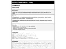 Give Me Five! Lesson Plan