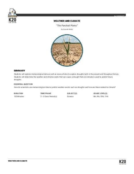 The Parched Plains Lesson Plan