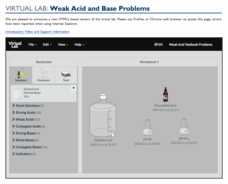 Virtual Lab: Weak Acid and Base Problems Interactive