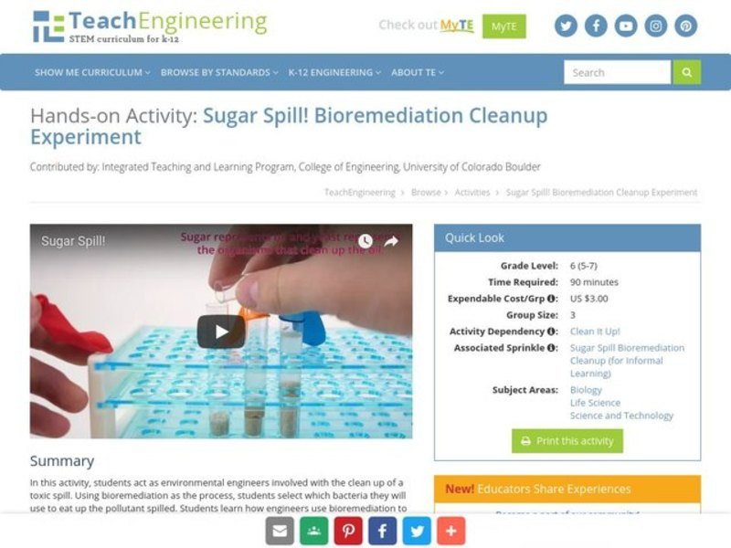 Sugar Spill! Activities & Project