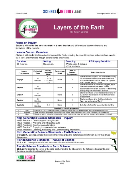 Layers of the Earth Lesson Plan