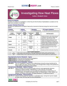 Investigating How Heat Flows Lesson Plan